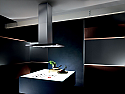 Elica GXY-ISL-SS-BLK Galaxy Island Cooker Hood with Black Glass Control Panel