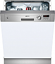 Neff S41E50N1GB Semi Integrated Dishwasher with Stainless Steel Facia