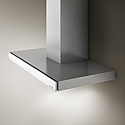 Elica JOY-60-WH 60cm wide Chimney Hood with White Glass Touch Control Facia
