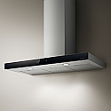 Elica JOY-60-BLK 60cm wide Chimney Hood with Black Glass Touch Control Facia