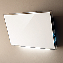 Elica FILM-WH Designer Cooker Hood in White Glass